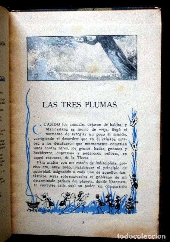 Libros antiguos: LAS TRES PLUMAS - CALLEJA - Biblioteca Ilustrada - Tapa Dura - Foto 4 - 57143166