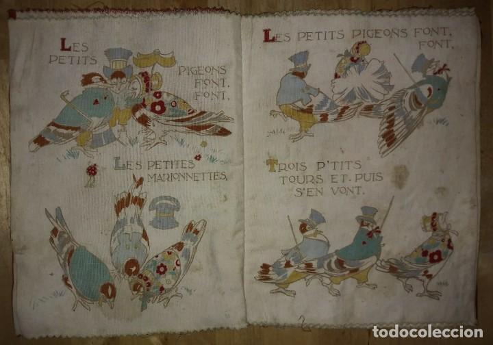 Libros antiguos: Libro impreso en tela del ilustrador infantil Félix Lorioux Une poule sur un mur dessins F. Lorioux - Foto 6 - 116803079