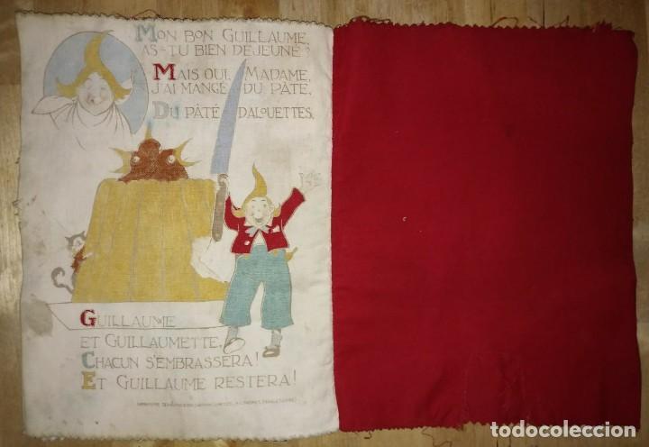 Libros antiguos: Libro impreso en tela del ilustrador infantil Félix Lorioux Une poule sur un mur dessins F. Lorioux - Foto 7 - 116803079