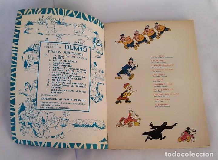Libros antiguos: Borrón el encapuchado. Colección Dumbo núm. XII. Walt Disney, ERSA - Foto 3 - 117043967