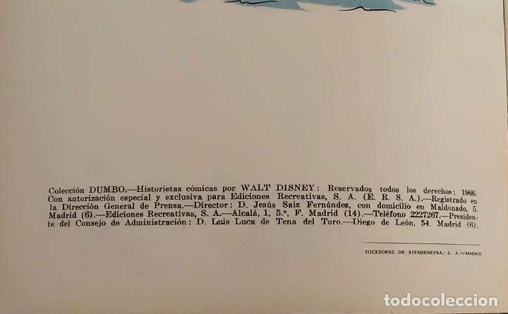 Libros antiguos: Borrón el encapuchado. Colección Dumbo núm. XII. Walt Disney, ERSA - Foto 5 - 117043967