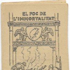 Libros antiguos: COL·LECCIÓ PATUFET 404 - MANUEL FOLCH I TORRES - EL FOC DE L'IMMORTALITAT – COBERTA JUNCEDA - 1920. Lote 118359235