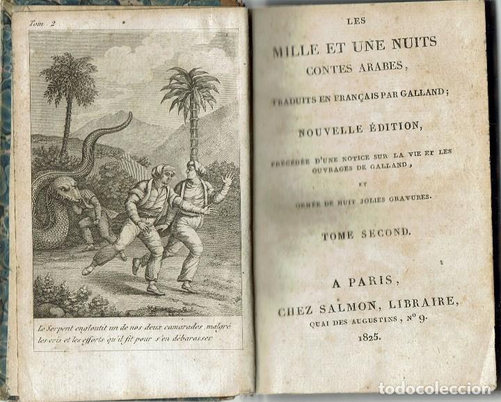 LES MILLE ET UNE NUITS, POR A. GALLAND. TOME SECOND. AÑO 1825 (10.3) (Libros Antiguos, Raros y Curiosos - Literatura Infantil y Juvenil - Cuentos)