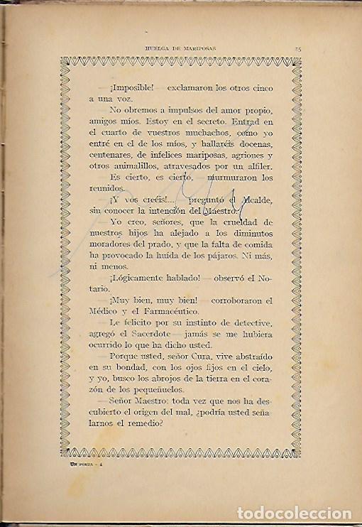 Libros antiguos: Un poeta. Huelga de mariposas / M. Marinel·lo; il. R. Opisso. BCN : Ll. Camí, s.f. 25x17cm. 31 p. - Foto 3 - 118928483