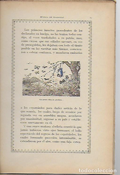 Libros antiguos: Un poeta. Huelga de mariposas / M. Marinel·lo; il. R. Opisso. BCN : Ll. Camí, s.f. 25x17cm. 31 p. - Foto 5 - 118928483