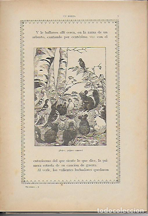Libros antiguos: Un poeta. Huelga de mariposas / M. Marinel·lo; il. R. Opisso. BCN : Ll. Camí, s.f. 25x17cm. 31 p. - Foto 6 - 118928483