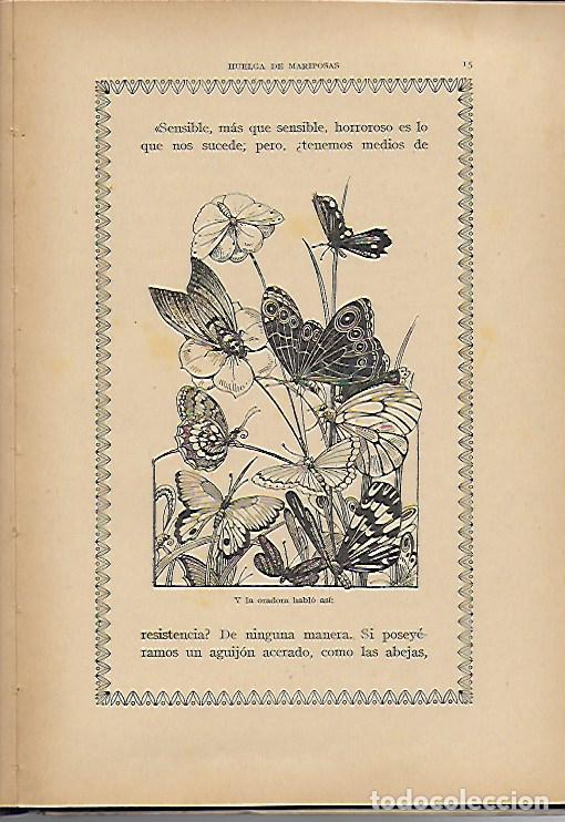 Libros antiguos: Un poeta. Huelga de mariposas / M. Marinel·lo; il. R. Opisso. BCN : Ll. Camí, s.f. 25x17cm. 31 p. - Foto 8 - 118928483