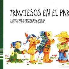 Libros antiguos: CUENTOS POPULARES DE MALAGA TRAVIESOS EN EL PARQUE TOTALMENTE ILUSTRADO TAPAS SEMIDURAS 31 X 22 CM. Lote 119900299