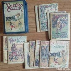 Livros antigos: LOTE DE 12 CUENTOS DE SATURNINO CALLEJA CON ESTUCHE . REEDICIÓN. Lote 120218763