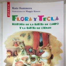 Libros antiguos: FLORA Y TECLA. HISTORIA DE LA RATITA DE CIUDAD. Lote 120619116