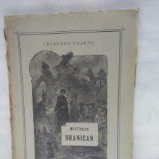 Libros antiguos: CUADERNO CUARTO. MISTRESS BRANICAN. JULIO VERNE. Lote 120955679