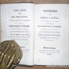 Libros antiguos: SCHMID, CRISTOVAL: CUENTECITOS PARA NIÑOS Y NIÑAS. PETITS CONTES POUR LES ENFANTS. 1846. Lote 122306447