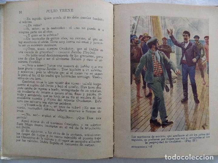 Libros antiguos: LIBRERIA GHOTICA.JULIO VERNE. LOS FORZADORES DEL BLOQUEO. RAMON SOPENA. NUMERO 38. 1920. ILUSTRADO - Foto 3 - 124193991