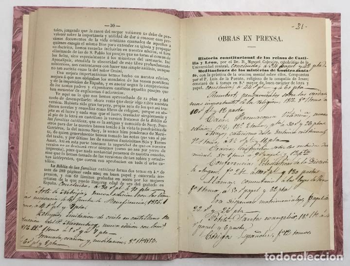 Libros antiguos: CATALOGO DE LOS LIBROS DE FONDO DE LA CASA DE D. ANGEL CALLEJA. - Foto 3 - 123140826