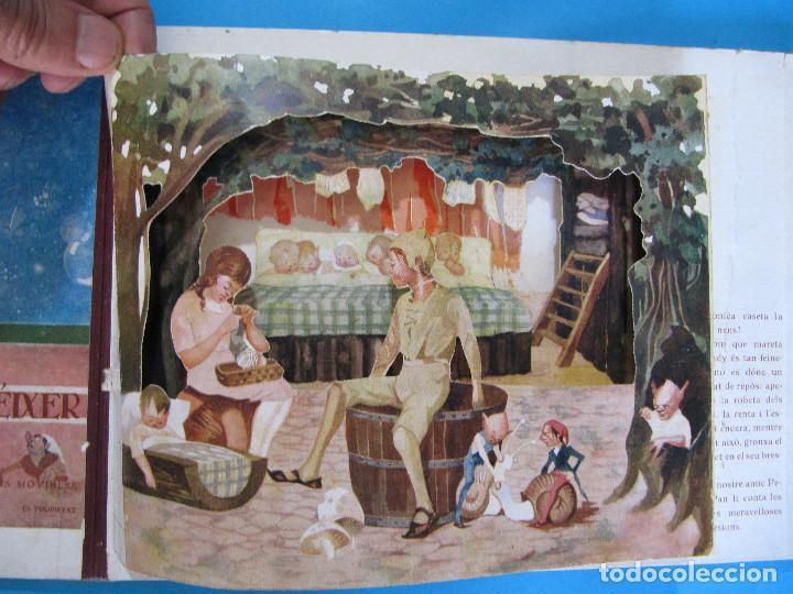 Libros antiguos: PETER PAN I WENDY. IL.LUSTRACIONS I ESCENES MOVILES D A. SALÓ. CONTES ANIMATS. EDITORIAL JOVENTUD, - Foto 4 - 124784035