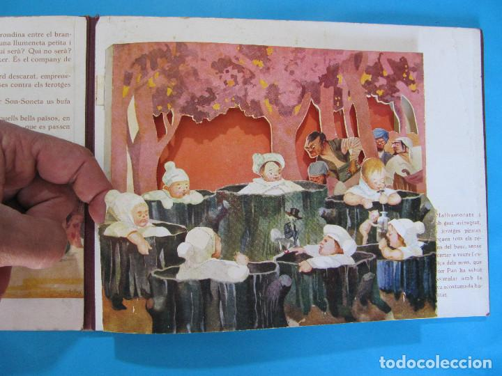 Libros antiguos: PETER PAN I WENDY. IL.LUSTRACIONS I ESCENES MOVILES D A. SALÓ. CONTES ANIMATS. EDITORIAL JOVENTUD, - Foto 5 - 124784035