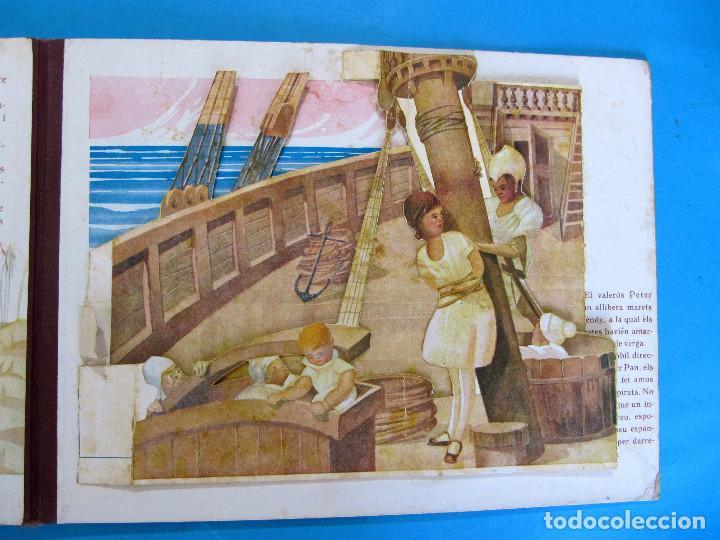 Libros antiguos: PETER PAN I WENDY. IL.LUSTRACIONS I ESCENES MOVILES D A. SALÓ. CONTES ANIMATS. EDITORIAL JOVENTUD, - Foto 6 - 124784035