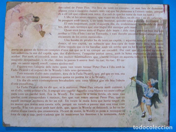 Libros antiguos: PETER PAN I WENDY. IL.LUSTRACIONS I ESCENES MOVILES D A. SALÓ. CONTES ANIMATS. EDITORIAL JOVENTUD, - Foto 9 - 124784035