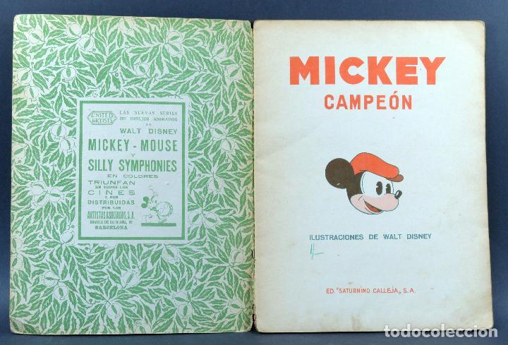 Libros antiguos: Mickey campeón cuento Saturnino Calleja 1935 - Foto 2 - 124882955
