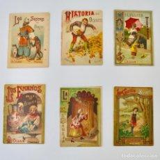 Libros antiguos: LOTE DE 6 LIBROS. SATURNINO CALLEJA. MADRID,1901. CUENTOS INFANTILES ILUSTRADOS.. Lote 125443671