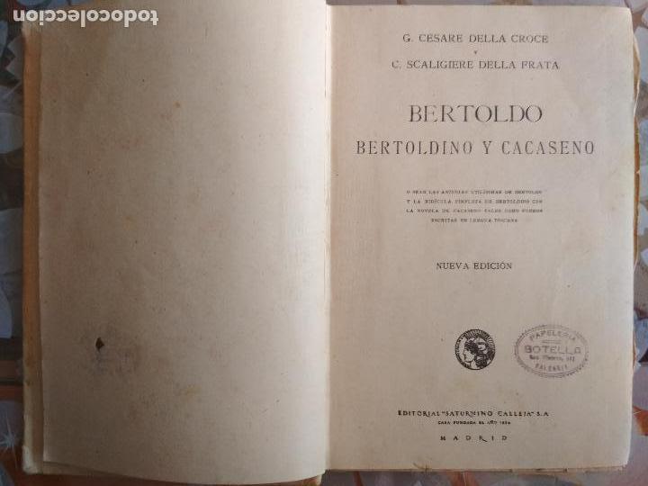 Libros antiguos: BERTOLDO-BERTOLDINO Y CACASENO, BIBLIOTECA ILUSTRADA Nº XXIII, SATURNINO CALLEJA - Foto 2 - 125833491