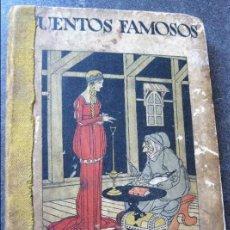 Libros antiguos: CUENTOS FAMOSOS CALLEJA EN COLORES . 8ª SERIE . AÑO 1922 5 CUENTOS ENCUADERNADOS . IL BARTOLOZZI. Lote 126187895
