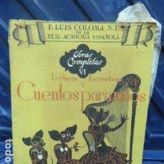 Libros antiguos: CUENTOS. Lote 126583267