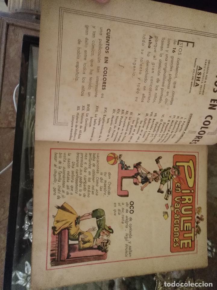 Libros antiguos: pirulete , cuentos en colores , pirulete en vacaciones xiii ramon sopena dibujos de asha - españa - Foto 2 - 126857671