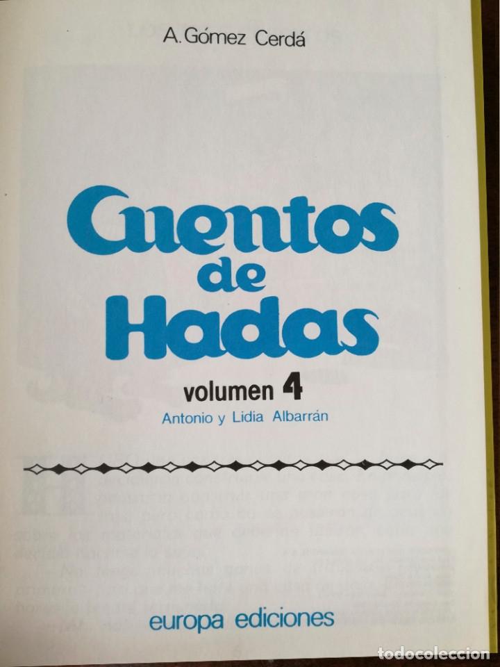 Libros antiguos: 4 libros 56 cuentos de hadas-1986 nuevos-Europa Ediciones 1-2-3-4 dibujos de Albarrán - Foto 8 - 193992601