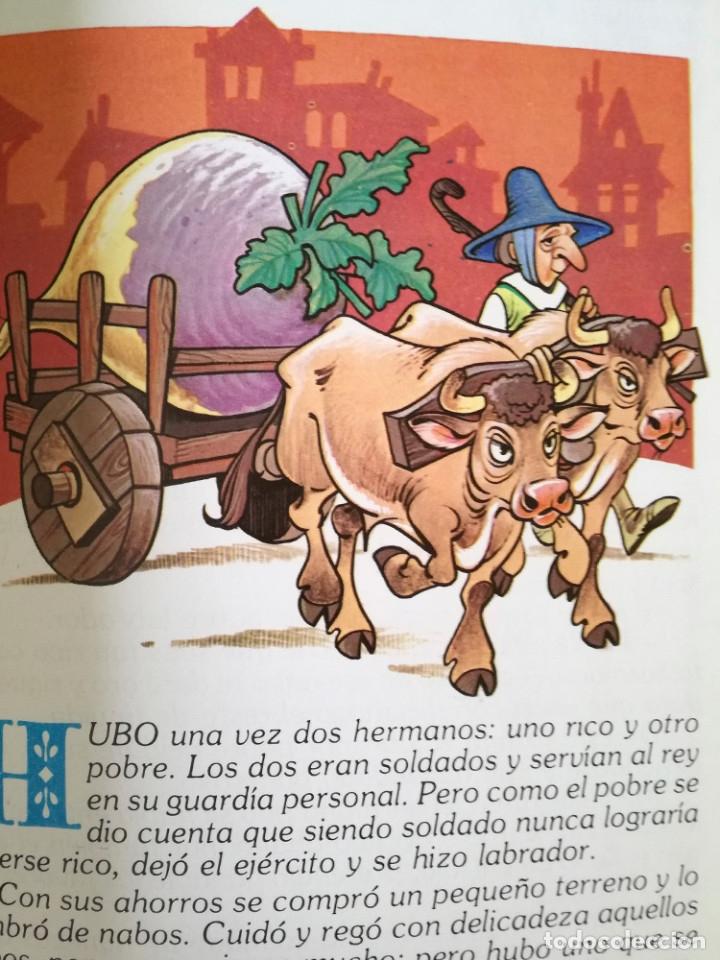 Libros antiguos: 4 libros 56 cuentos de hadas-1986 nuevos-Europa Ediciones 1-2-3-4 dibujos de Albarrán - Foto 11 - 193992601