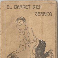 Libros antiguos: COL·LECCIÓ PATUFET 237 - JOSEP Mª FOLCH I TORRES - EL BARRET D'EN GERRICO - COBERTA JUNCEDA. Lote 128099263