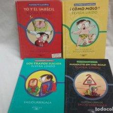 Libros antiguos: LOTE DE CUATRO LIBROS MANOLITO GAFOTAS - ELVIRA LI - ILUSTRACIONES EMILIO URBERUAGA - ED. ALFAGUARA . Lote 128369039