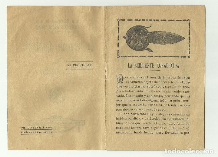 Libros antiguos: La Serpiente Agradec. Biblioteca de cuentos para niños. Casa editorial Saturnino Calleja Fernandez - Foto 2 - 128420983