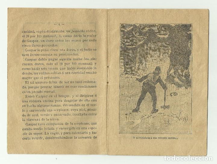 Libros antiguos: La Serpiente Agradec. Biblioteca de cuentos para niños. Casa editorial Saturnino Calleja Fernandez - Foto 3 - 128420983