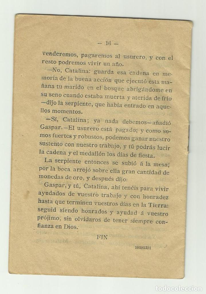 Libros antiguos: La Serpiente Agradec. Biblioteca de cuentos para niños. Casa editorial Saturnino Calleja Fernandez - Foto 6 - 128420983