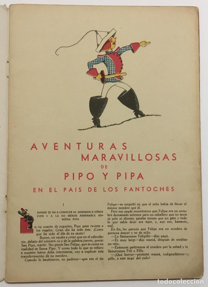 Libros antiguos: PIPO Y PIPA EN EL PAIS DE LOS FANTOCHES. - BARTOLOZZI, Salvador. RIVADENEYRA. - Foto 2 - 123162198