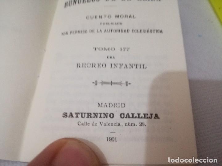 Libros antiguos: mini libro-los buñuelos de la reina-tomo 177 recreo infantil-saturnino calleja-1901-buen estado foto - Foto 5 - 129636347