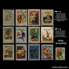 Libros antiguos: LOTE 18 CUENTOS- 14 DE SATURNINO CALLEJA Y 4 OTROS-FERIA-JUANILLO-JURADO FLORES-VALEROSO-1901 A 1920. Lote 43428108