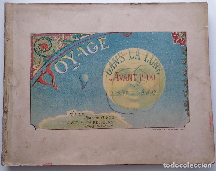 VOYAGE DANS LA LUNE AVANT 1900 DE A. DE VILLE D'AVRAY (Libros Antiguos, Raros y Curiosos - Literatura Infantil y Juvenil - Cuentos)