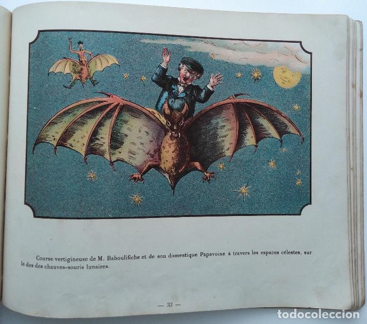 Libros antiguos: VOYAGE DANS LA LUNE AVANT 1900 DE A. DE VILLE DAVRAY - Foto 10 - 131495470