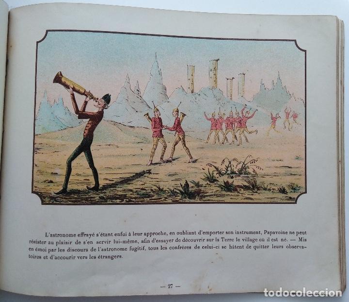 Libros antiguos: VOYAGE DANS LA LUNE AVANT 1900 DE A. DE VILLE DAVRAY - Foto 8 - 131495470