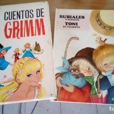 Libros antiguos: CUENTOS DE GRIMM Y LIBRO DE CUENTOS DE FERRANDIZ. Lote 131568714