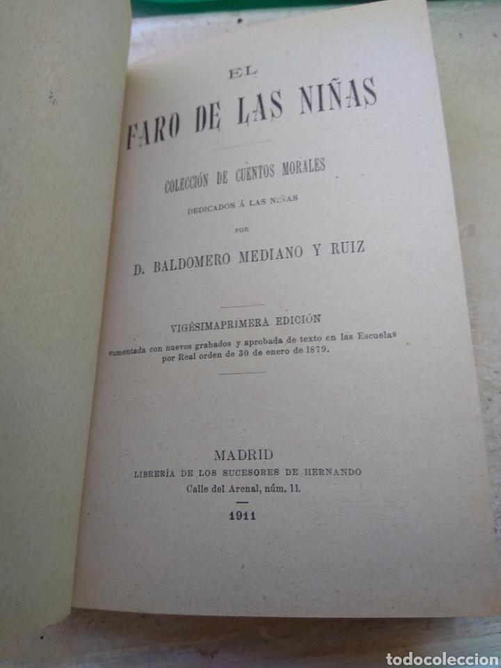 Libros antiguos: Libro El Faro de Las Niñas - D. Baldomero Mediano y Ruíz 1911 - Foto 3 - 132592185