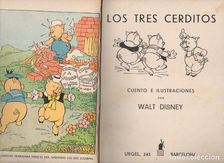 WALT DISNEY : LOS TRES CERDITOS (MOLINO, 1935) (Libros Antiguos, Raros y Curiosos - Literatura Infantil y Juvenil - Cuentos)