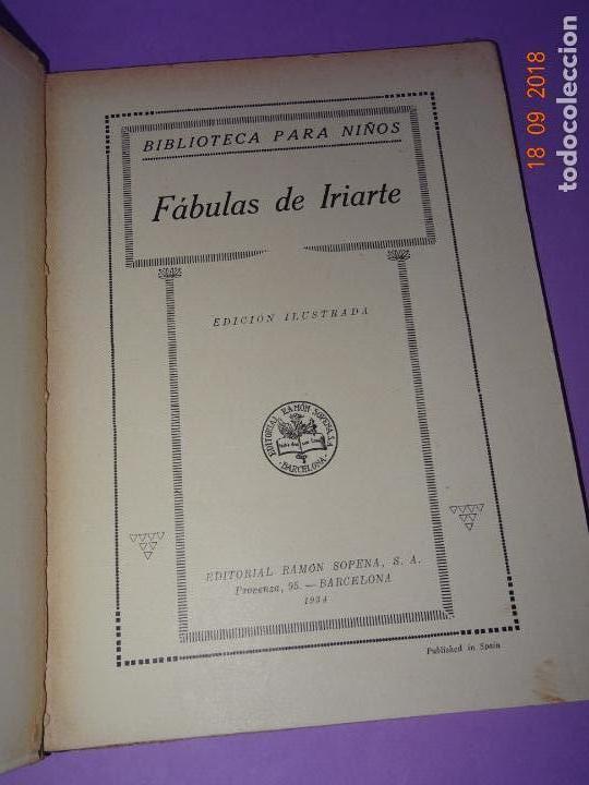 Libros antiguos: COMO VIVEN LOSFÁBULAS DE IRIARTE - 1ª Edición de 1934 Editorial Ramon Sopena BIBLIOTECA PARA NIÑOS - Foto 7 - 133684962