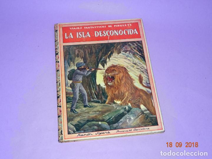 LA ISLA DESCONOCIDA - 1ª EDICIÓN 1934 EDITORIAL RAMON SOPENA BIBLIOTECA PARA NIÑOS (Libros Antiguos, Raros y Curiosos - Literatura Infantil y Juvenil - Cuentos)