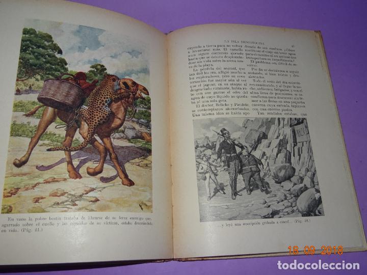 Libros antiguos: LA ISLA DESCONOCIDA - 1ª Edición 1934 Editorial Ramon Sopena BIBLIOTECA PARA NIÑOS - Foto 2 - 133685086
