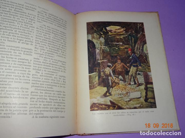Libros antiguos: LA ISLA DESCONOCIDA - 1ª Edición 1934 Editorial Ramon Sopena BIBLIOTECA PARA NIÑOS - Foto 4 - 133685086