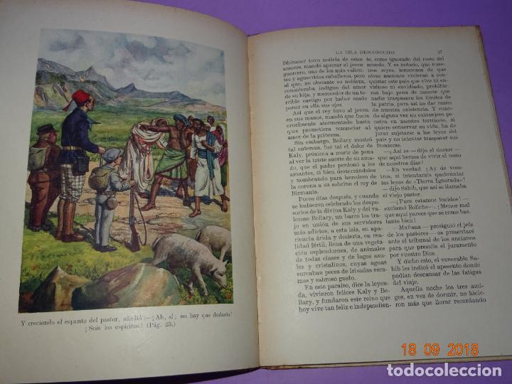 Libros antiguos: LA ISLA DESCONOCIDA - 1ª Edición 1934 Editorial Ramon Sopena BIBLIOTECA PARA NIÑOS - Foto 5 - 133685086