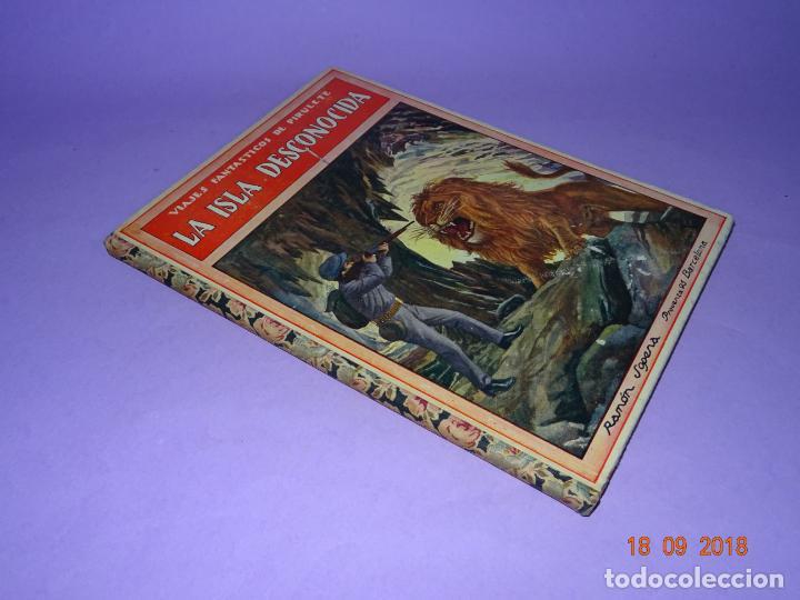 Libros antiguos: LA ISLA DESCONOCIDA - 1ª Edición 1934 Editorial Ramon Sopena BIBLIOTECA PARA NIÑOS - Foto 6 - 133685086